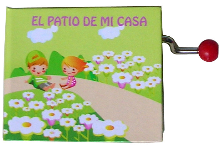 MANIVELA MUSICAL LLIBRET EL PATIO DE MI CASA - 1467
