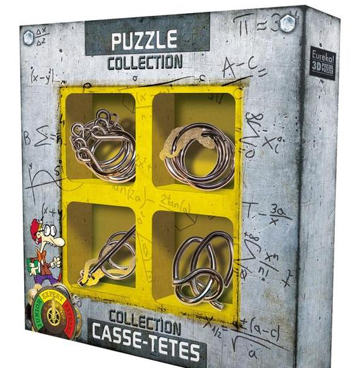 SET DE 4 PUZZLES DE METALL