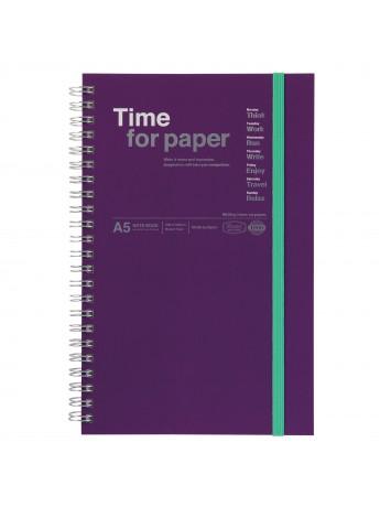 LLIBRETA A5 TIME FOR PAPER PURPLE