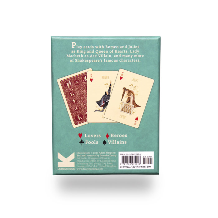 SHAKESPEARE PLAYING CARD