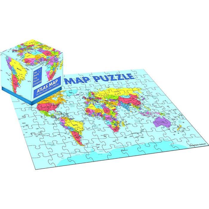 ATLAS MAP -CUBE PUZZLE