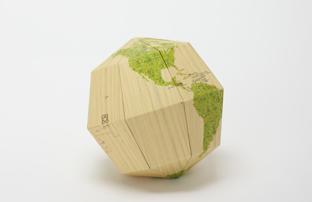 GEO 3D SECTION GLOBE DE FUSTA