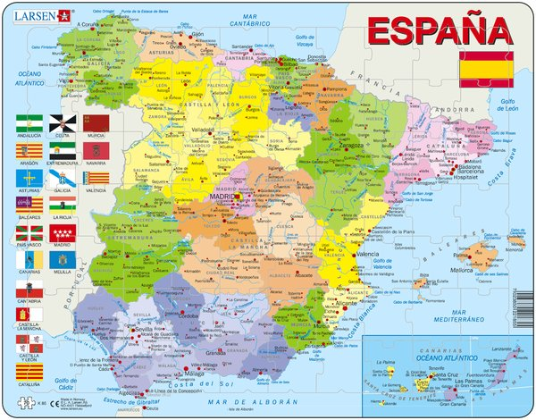 PUZZLE MAPA POLÍTIC D'ESPANYA (CASTELLÀ)