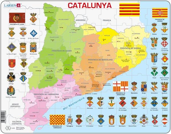 PUZZLE MAPA POLÍTIC DE CATALUNYA (CATALÀ)