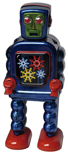 ROBOT GEARING BLAU