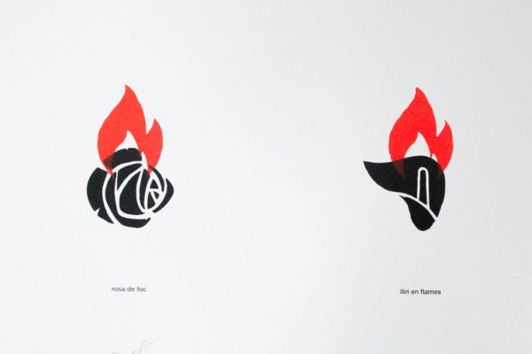 CARTELL ROSA DE FOC / LLIRI EN FLAMES