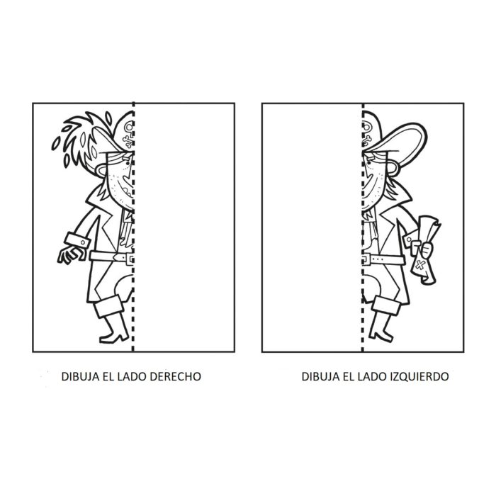 DIBUIXOS DOBLES PIRATES