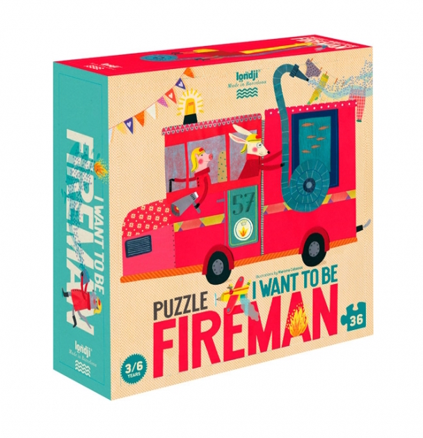 I WANT TO BE... FIREMAN PUZZLE