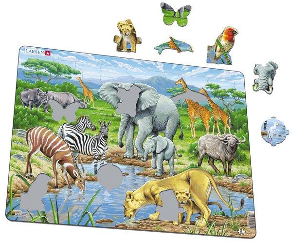 PUZZLE AFRICAN ANIMALS
