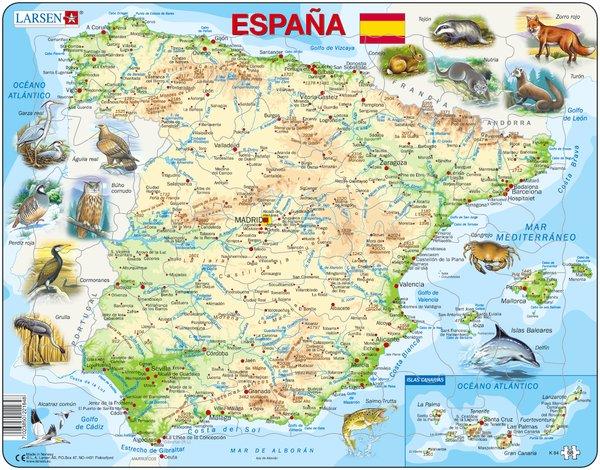 PUZZLE MAPA FÍSIC D'ESPANYA (CASTELLÀ)