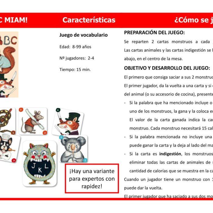 CARTES ABC MIAM!